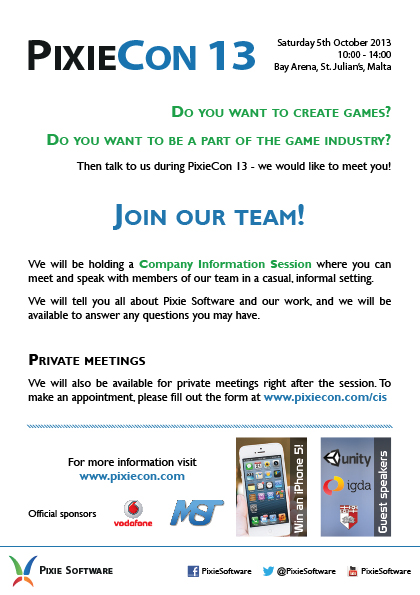 Join our team - PixieCon 13